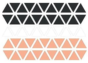 Decopatch-AD040O-Maildor-M. Design-Juego de adhesivos para pared-Juego de 2 hojas, 23 x 35 cm, diseño de triángulos