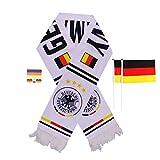 Langning World Cup Fußball 2018Soccer Russland Fan Schal National Team Flagge Wimpelkette aus, deutschland