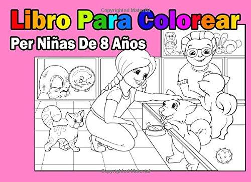 Libro Para Colorear Per Niñas De 8 Años (Mickey Mouse Barbie,)