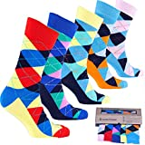 socks n socks Calcetines de algodón de colores para hombre - 5 pares Talle único Dotted-4
