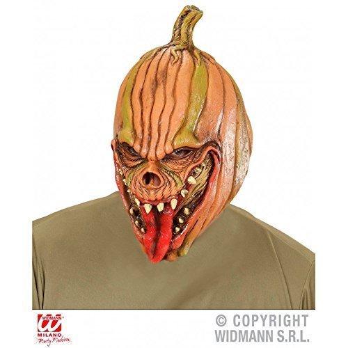 schaurige Maske Kürbis / Latexmaske / Teufelskürbis / Kürbiskopf / Halloween / Fasching / (Maske Kürbiskopf)