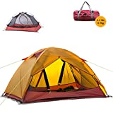 Naturehike Ultralight 2 Person 3 Season Backpacking Tent for Camping, Silicone Coated Lightweight