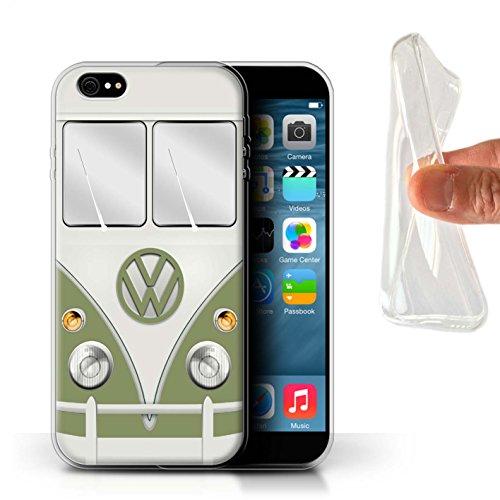 Coque Gel TPU de STUFF4 / Coque pour Apple iPhone 7 Plus / Titan Rouge Design / Rétro T1 Bus Campeur Collection Mangue Vert