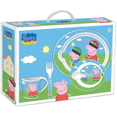 Peppa Pig - Set Vajilla para microondas 5 piezas rosa