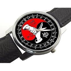 Chinese Kung Fu Yin Tng Mandarin Dial Symbolic Art Gents Size Wrist Watch