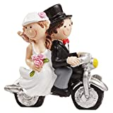 Motorbike cake Topper Bride and Groom Wedding Cake Topper Table Decoration