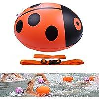 OWUDE Boya de natación nadadores de aguas abiertas - Flotador ligero y visible para un entrenamiento seguro y bolsas de natación de carreras Boya de deriva -Sugerencia