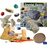 Crystal Gems Digging Mining Excavation Kit Dig Out Your Own Rock Gemstones Set