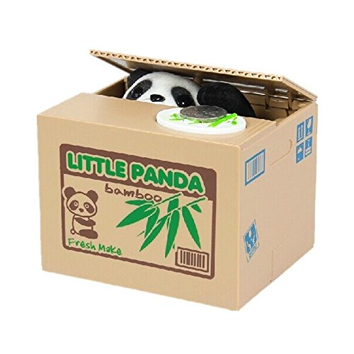 Cisixin Elektronische Panda Spardose Automatische stehlen Münzen Coin Bank Money Saving Box Piggy Bank Elektronische Komponente Box