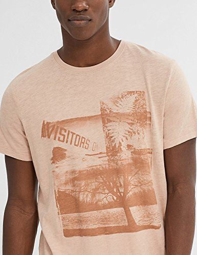 ESPRIT Herren T-Shirt 047ee2k019-Print Brown