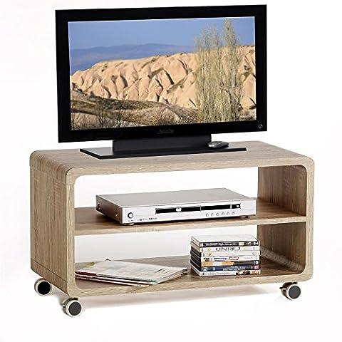 TV Rack Beistelltisch Lowboard Couchtisch Wohnzimmertisch MIAMI, 1 Regalboden, 4
