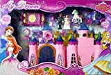 Elektra Big Size Castle Doll House with Accessories - Musical Dollhouse