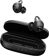 Zolo Liberty+ Bluetooth Kopfhörer True Wireless TWS in ear Kopfhörer, Bluetooth Earbuds mit Graphen Membran Technologie, 48 Stunden Spielzeit, Schweißfest, AI unterstützt und Geräuschisolierung(Schwarz)