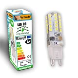 █ Vorfreude® ► 5x 2W G9 LED Bulbs 240v ► Pack of 5 ► 110,000 Hour, 5,500% longer life, 6000k Cool White Capsules Energy Saving Eco same as 40W Watts
