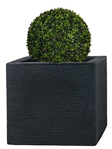 PFLANZWERK® Pflanzkübel Anthrazit Kunststoff 42x50x50cm *Frostbeständig* *UV-Schutz* *Qualitätsware*