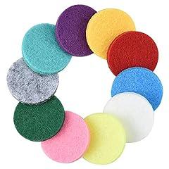 Idea Regalo - Cizen Feltrini Lavabili, 50 Pz Multicolore Tappetini in Spugna per Diffusore di Oli Essenziali per Auto Deodorante - Facile da Sostituire