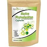 Capsulas de fitoplancton marino (180 capsulas x 500mg) / MySuperFoods / el alimento más puro en la tierra / cultivado del mar profundo / Rico en micronutrientes / Agregue a jugos, smoothies y licuados.