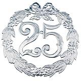 Jubiläums-Zahl 24Cmd 25 Silber 1234 Liefermenge = 1