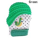 Myanburm Baby Zahn Handschuh Silikon Beißring, Unisex BPA Frei Eulenmuster Baby Mitten Soothing Schmerzlinderung Alter 3-12 Monate Reduzieren Sie Bakterien und Zahnfleisch Schmerzen Erleichterung (Grün)