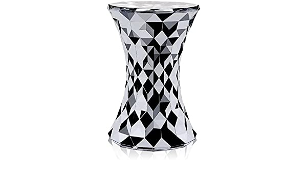 Kartell 8801xx sgabello stone colore: argento: amazon.it: casa e