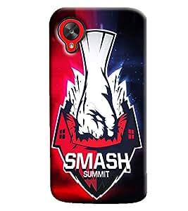 Blue Throat Smash Summit Hard Plastic Printed Back Cover/Case For LG Google Nexus 5