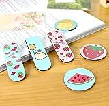 #7: ShopNgift Fancy Fruit print Magnetic Bookmark -Set of 6pcs