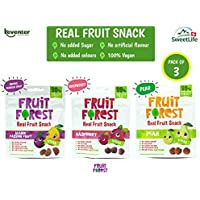 Fruit Forest Combo Pack, Real Fruit Snack, Natural, Joyful, Soft and Vegan Fruit Gummies (Mango Passion Fruit, Raspberry and Pear) Combo Pack