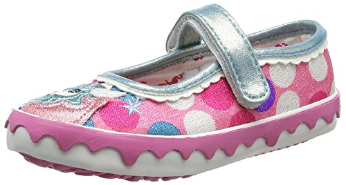 Irregular Choice Girls Mini Reins Mary Jane, Pink (Pink Multi), 10 Child UK 28 EU