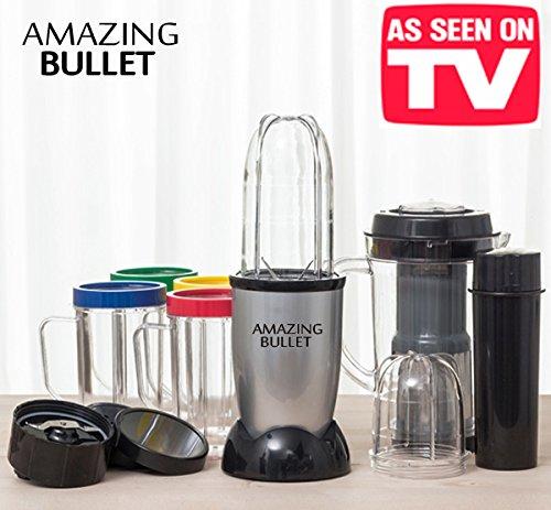 L 'Original Amazing Bullet. Super Kit Batidora con 21piezas-Incluye también la licuadora. Angular Super rápido con muchos accesorios incluidos-Molinillo, molinillo, sminuzza, Frulla y centrifugador de Pochi segundos.