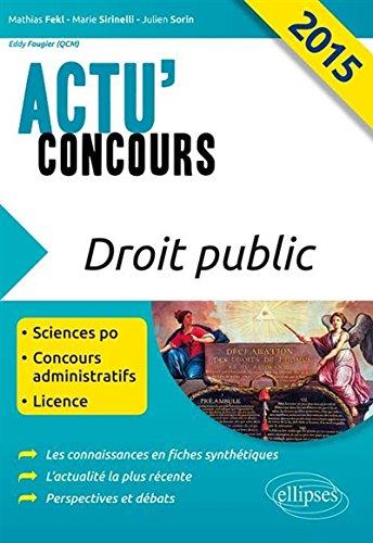 Droit Public 2015 Sciences Po Concours Administratifs Licence