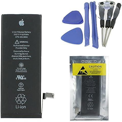 Advansia - Batería original de Apple para iPhone 4, 4S, 5, 5S, 6 y 6 Plus (con kit de herramientas de sustitución)