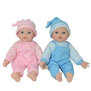 "The New York Doll Collection- bebé Gemelo muñeca Hechas de Vinilo para niños pequeños (12"" caucásico), Color White (B144)"