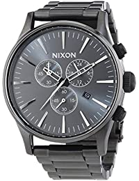 Nixon Herren-Armbanduhr XL Sentry Chrono Chronograph Quarz Edelstahl A386632-00