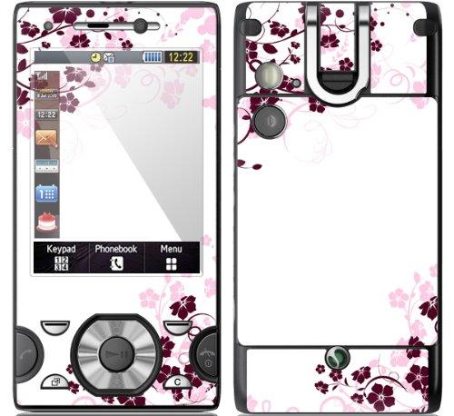 "Sony W995 Skin "" PINK ROSE "" Sticker Handy Folie Aufkleber"