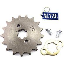 XLYZE 428 17 Dientes 17mm Engranaje del piñón delantero del motor para 50cc 70cc 90cc 110cc