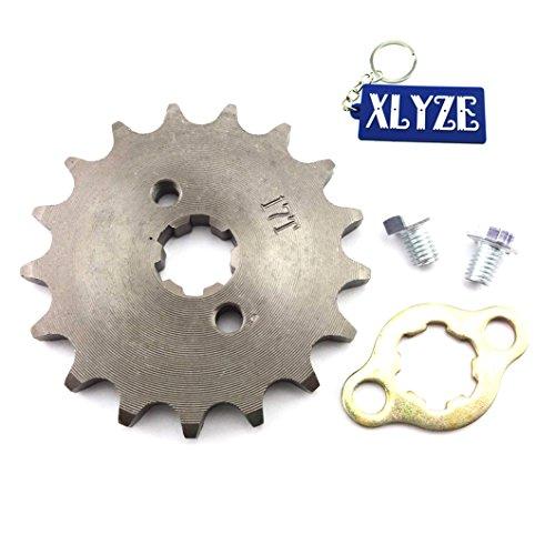xlyze 42817Z 17mm Getriebe Ritzel vorne des Motor für 50cc 70cc 90cc 110cc 125cc 140cc 150cc 160cc Pit Dirt Bike ATV Lifan Yx (Cc 70 Motor)