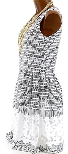 Charleselie94 - Robe Couture Patineuse Dentelle été Neuf 36 38 40 42 44 - COLOMA - CharlesElie94 Blanc