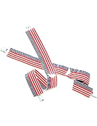 Bretelles suspenders homme USA Patriotic flag - Western express - SU-42/USA