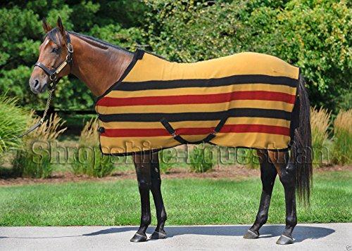 Newmarket a righe in pile, per cavallo, 145 cm