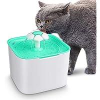Gato Perro Bebedero Automático Fuente de Agua Inteligente con Sensor de Infrarrojos, 2 L Fuente de Agua Eléctrico Automático Bebederos Mascotas para Mascotas Perro Gato