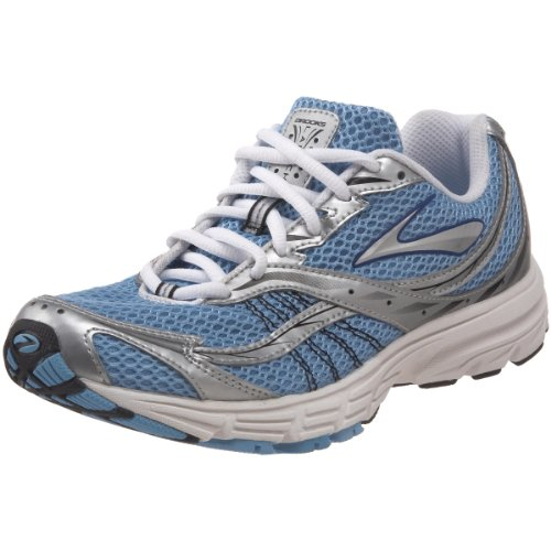Brooks Women's Launch Running Shoe, Blue/SILVER, 4 UK