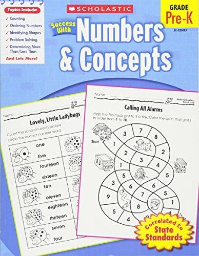 Scholastic Success with Numbers & Concepts, Grade Pre-K por Danette Randolph
