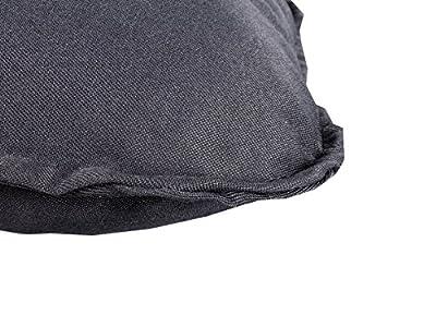 Meerweh Auflage mit Rückenteil Sitz und Rückenkissen mit Bänder Polsterauflage Bankauflage, Grau, ca. 100 x 98 x 10 cm von Meerweh - Gartenmöbel von Du und Dein Garten