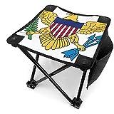 Ace Mate Bandera Unisex de Las Islas Vírgenes de los Estados Unidos Mini Taburete Plegable para Acampar con Bolsa de Transporte Silla Plegable portátil al Aire Libre