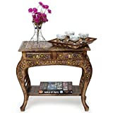 Onlineshoppee Wooden End Table With Hand...