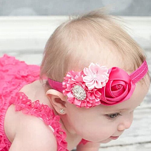 Liroyal Baby's Headbands Girl's Cute Head Band Hair Bow Crystal Flower