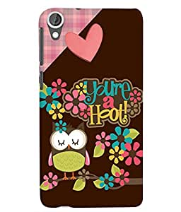 Citydreamz Love/Owls/Flowers/Abstract Hard Polycarbonate Designer Back Case Cover For HTC Desire 828