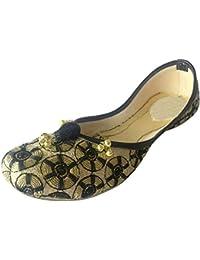 Step n Style mujeres Punjabi JUTTI Khussa Zapatos plana sandalias chanclas soporte de Jaipuri, color, talla 38