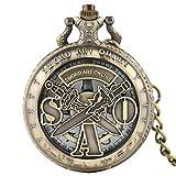 Hohl SAO Taschenuhr, Schwert Art Online Taschenuhr Halskette, Geschenk für Jungen