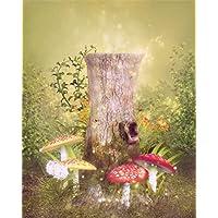 Fotografia sfondo neonato 5x 7fondali Fairytale legno albero fungo per bambini personalizzato bambino studio fotografico (Piega Funghi)
